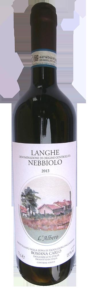 Červené víno Langhe Nebbiolo DOC