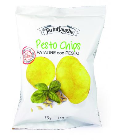Zemiakové lupienky Chipsy s Pestom